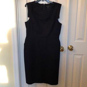 J. crew navy blue tailored dress